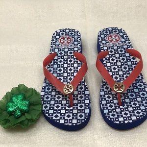 TORY BURCH Wedge Flip Flop Thong Sandals Rubber 8